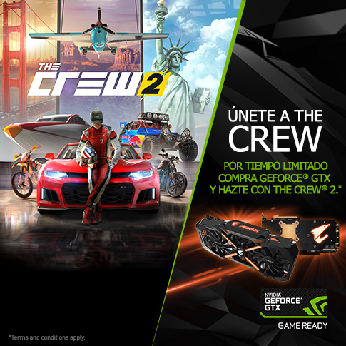 Únete a The Crew, compra GeForce® GTX y hazte con The Crew® 2*